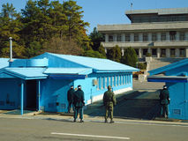 South-North Korea border, the most militarized zone in the world. Stock Image