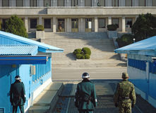 South-North Korea border, the most militarized zone in the world. Stock Photo