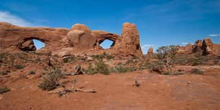 South and North Windows in Arches Royalty Free Stock Photography