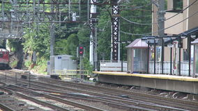 South Norwalk Train Station (3 of 5) stock video footage
