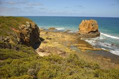 South Ocean coast in Aireys Inlet. Victoria Stock Image
