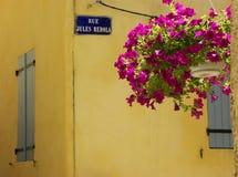 South Of France Village Scene Stock Image