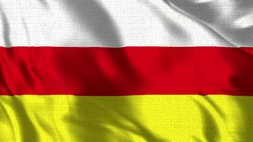 South Ossetia Flag - Realistic 4K - 30 fps flag of the South Ossetia waving in the wind. vector illustration