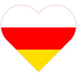 South Ossetia flat heart flag Royalty Free Stock Photos