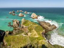 South Pacific Coastline, Cape Point, New Zealand Stock Photo