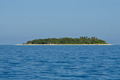 South Pacific Paradise. WS Malamala Island in the beautiful Mamanuca's group, Fiji Stock Images
