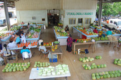 South Pacific Tonga market Royalty Free Stock Image