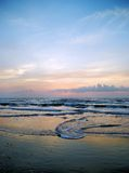 South Padre Island sunrise 5. A peaceful, pastel sunrise on the beach. South Padre Island, Texas stock images