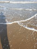 South padre island waves royalty free stock photo