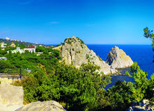 South part of Crimea peninsula, beach landscape. Ukraine royalty free stock images