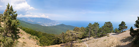 South part of Crimea peninsula, mountains Ai-Petri Stock Photos