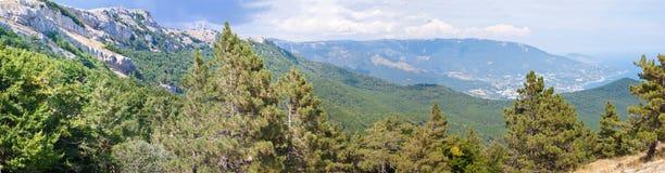 South part of Crimea peninsula, mountains Ai-Petri. Landscape. Ukraine royalty free stock image