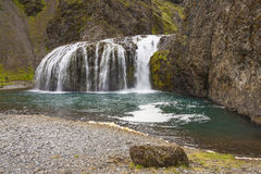 South part of Iceland. Small cascade. Royalty Free Stock Photos
