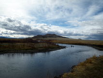 South Platte River. A beautiful day on the South Platte River Stock Photography