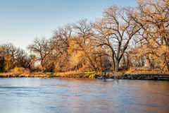 South Platte River in Colorado. South Platte River in eastern Colorado between Greeley and Fort Morgan, a typical fall or winter scenery Stock Images