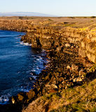 South Point Sunset on Rocky Cliffs on the Big Island Royalty Free Stock Photo