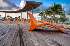 South Pointe Deck Royalty Free Stock Photos