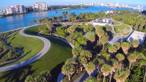 South Pointe Park aerial video stock video