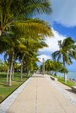 South Pointe Park. In South Beach, Florida, on a sunny day stock photography