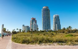 South Pointe Park on a beautiful winter day, Miami - Florida Stock Images