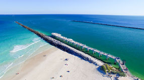 South Pointe Park in Miami Beach, aerial view Stock Photo