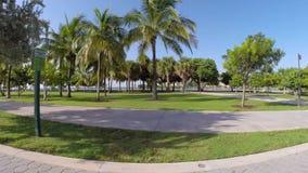 South Pointe Park Miami Beach stock video footage