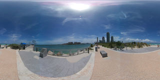 South Pointe Park Miami Beach 360 spherical image Royalty Free Stock Photos
