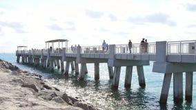 South Pointe Pier Miami Beach stock footage