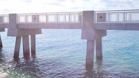South Pointe Pier Miami Beach stock video