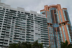 South Pointe and Portofino Tower, South Beach, Miami, Florida Stock Photos