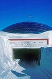 South Pole. Main entrance to the old South Pole research station Stock Image