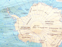 South Pole map Royalty Free Stock Photos