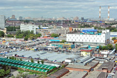 South port district in Moscow, the automobile market Royalty Free Stock Photography