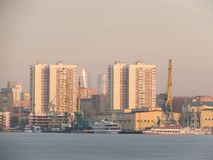 South port in Moscow. royalty free stock photography