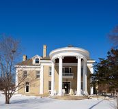 South Portico and Snow Royalty Free Stock Images