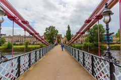 South Portland Street Suspension Bridge in Glasgow, Scotland Stock Image