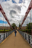 South Portland Street Suspension Bridge in Glasgow, Scotland Stock Photography