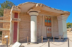 South Propylaeon at the Knossos palace on the Crete island in Greece Stock Photos