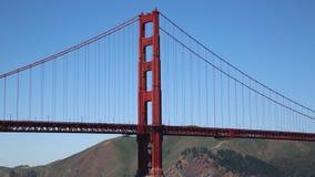 South pylon of Golden Gate Bridge stock video footage