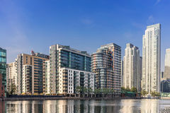 South Quay on Canary Wharf Royalty Free Stock Image