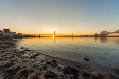 South Queensferry and the bridges Stock Image