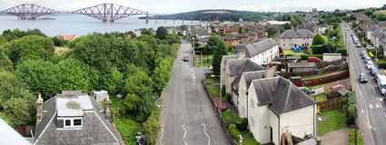 South Queensferry and Forth Rail Bridge Stock Photo