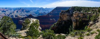 South Rim of Grand Canyon in Arizona. Panaramic view of South Rim of Grand Canyon in Arizona, USA Stock Photography