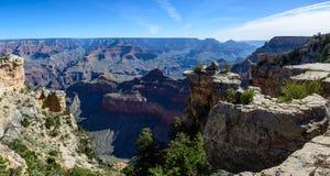 South Rim of Grand Canyon in Arizona. Panaramic view of South Rim of Grand Canyon in Arizona, USA Royalty Free Stock Image