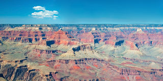 South Rim of Grand Canyon in Arizona panorama Royalty Free Stock Images