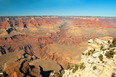 South Rim of Grand Canyon in Arizona panorama Royalty Free Stock Photos