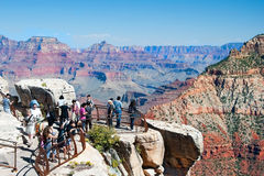 South Rim of Grand Canyon in Arizona Stock Photo