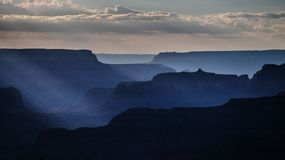 Sunset at the Grand Canyon stock image