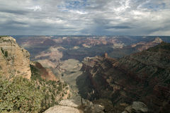 The South Rim Of The Grand Canyon With Passing Storms Stock Images