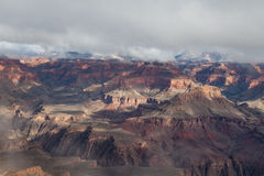 South Rim Grand Canyon Winter Beauty Stock Photography
